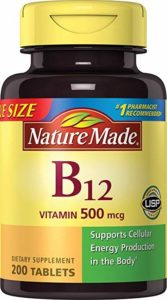 bottle of nature made b12
